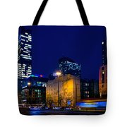 Warsaw Downtown Tote Bag by Tomasz Dziubinski