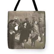 Warsaw Ghetto Uprising Number 2 1943 Color Added 2016 Tote Bag