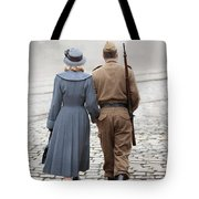 Wartime Couple Tote Bag