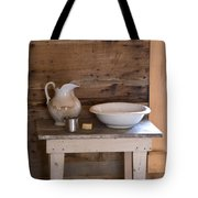 Wash Bowl Pitcher And Cup Tote Bag