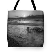 Washed Up Crab Cage 16x9 Bw Tote Bag