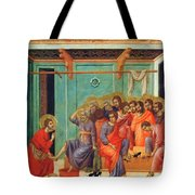 Washing Of Feet 1311 Tote Bag