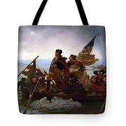 Washington Crossing The Delaware Painting - Emanuel Gottlieb Leutze Tote Bag