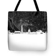 Washington Dc Skyline Map 5 Tote Bag
