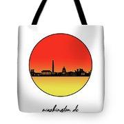 Washington Dc Skyline Minimalism 9 Tote Bag