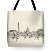Washington Dc Skyline Music Notes 2 Tote Bag