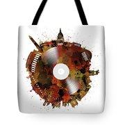 Washington Dc Skyline Vinyl 7 Tote Bag
