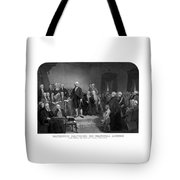 Washington Delivering His Inaugural Address Tote Bag