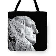 Washington Granite In Black And White Tote Bag