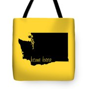 Washington Is Home Base Black Tote Bag