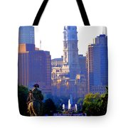 Washington Looking Over To City Hall Tote Bag by Bill Cannon