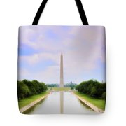 Washington Monument And Reflecting Pool Tote Bag