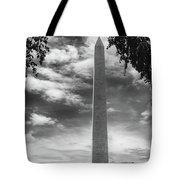 Washington Monument Black And White Tote Bag