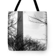 Washington Monument Bw Tote Bag