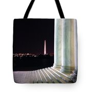 Washington Monument From Stairs Of Jefferson Tote Bag