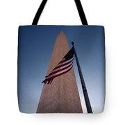 Washington Monument Single Flag Tote Bag