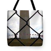 Washington Monument Through Fence Tote Bag
