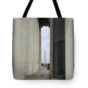 Washington Monuments Travel Tote Bag