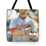 Washington Nationals Bryce Harper Tote Bag