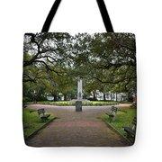 Washington Park, Charleston, Sc Tote Bag