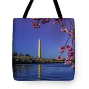 Washington Reflection And Blossoms Tote Bag