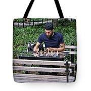 Washington Square Park Chess Man Tote Bag