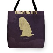 Washington State Facts Minimalist Movie Poster Art Tote Bag