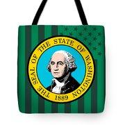 Washington State Flag Graphic Usa Styling Tote Bag