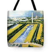 Washington Vintage Travel Poster Restored Tote Bag