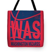 Washington Wizards City Poster Art Tote Bag