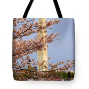 Washinton Monument In Spring Tote Bag