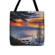 Waskesiu Sunset Tote Bag