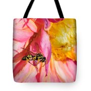 Wasp And Flower Tote Bag