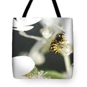 Wasp At Wotk Tote Bag