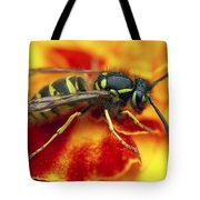 Wasp In The Bloom Tote Bag