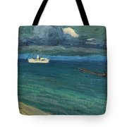 Wassily Kandinsky 1866 - 1944 Rapallo, Seascape With Steamer Tote Bag