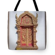 Wat Buppharam Phra Wihan Window Dthcm1581 Tote Bag