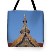 Wat Chaimongkron Phra Wihan Gable And Spire Dthcb0090 Tote Bag