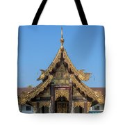 Wat Jed Yod Gable Of The Vihara Of The 700 Years Image Dthcm0963 Tote Bag