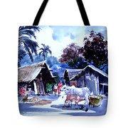 Watar Color Village Tote Bag