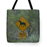 Watch For Horses Tote Bag