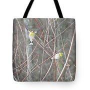 Watch Me One Bird In Flight Tote Bag