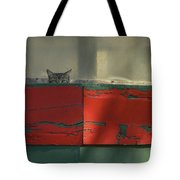 Watchful Cat Tote Bag