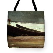Watching A Storm On The English Coast Tote Bag by Winslow Homer