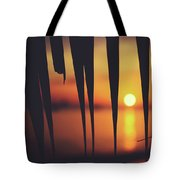 Watching Beautiful Caribbean Sunset From A Simple Beach Shack Tote Bag