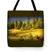 Watching Elk Iv Tote Bag