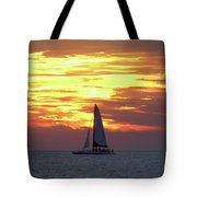 Watching Fire In The Sky Tote Bag
