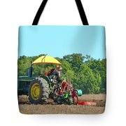 Watching Her Plow Two  Tote Bag