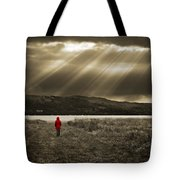 Watching In Red Tote Bag by Meirion Matthias
