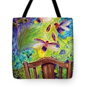 Watching The Bug Byway By Way Of Back Porch Tote Bag